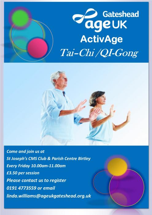 Tai Chi for Older People at St Joseph's RC Church, Birtley
