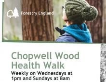Poster advertising the Chopwell woods walks