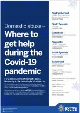 Domestic Abuse support poster
